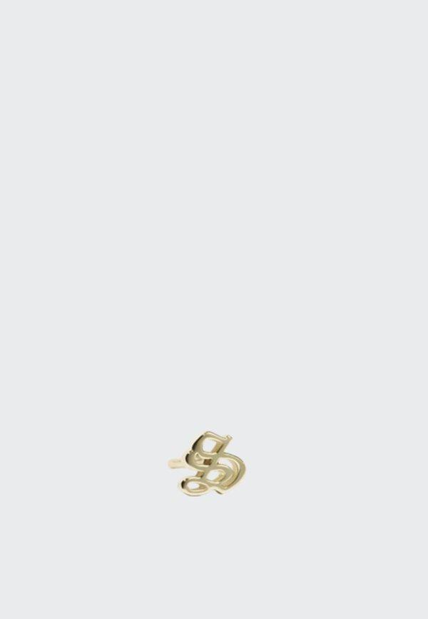 Capital Letter Stud Earring - gold