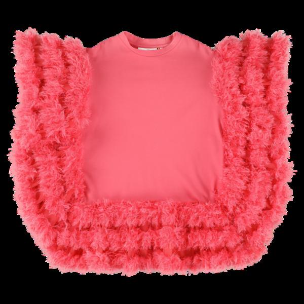 Kids caroline bosmans ruffled dress - pink