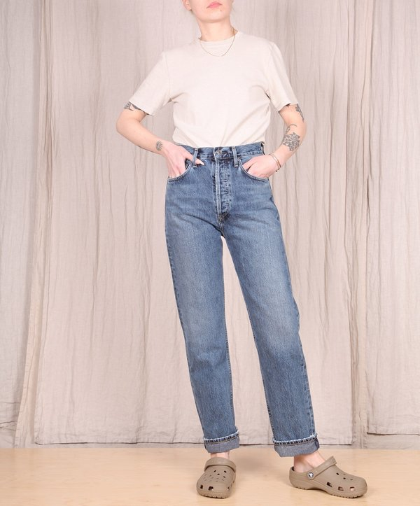 AGOLDE 90's Pinch High Rise Straight Jeans - Portrait