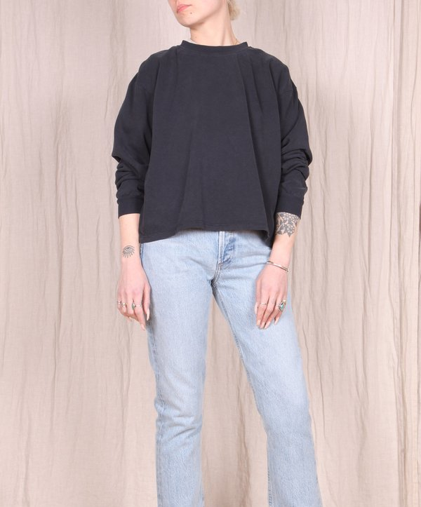 Jungmaven Cropped Long Sleeve Tee - Black