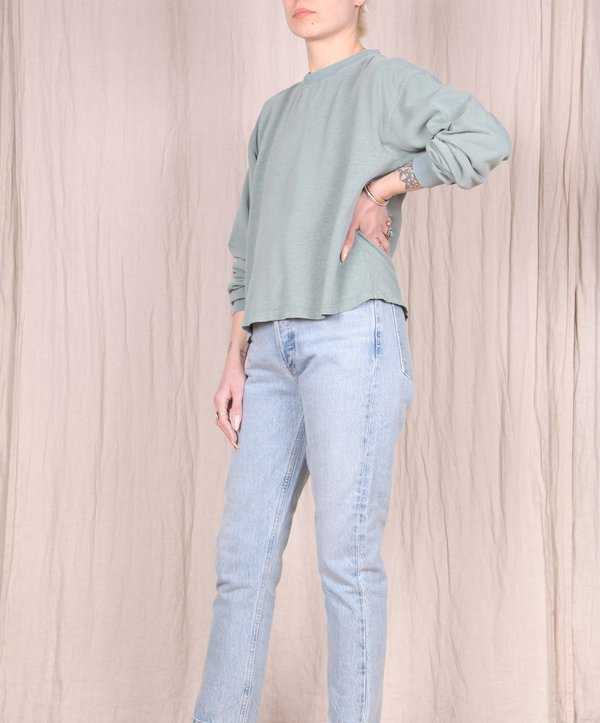 Jungmaven Cropped Long Sleeve Tee - Clay Green