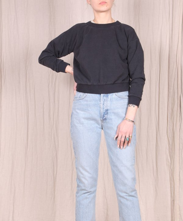 Jungmaven Yakama Cropped Sweatshirt - Black