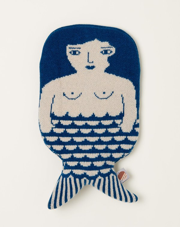 Mermaid Hot Water Bottle - Blue