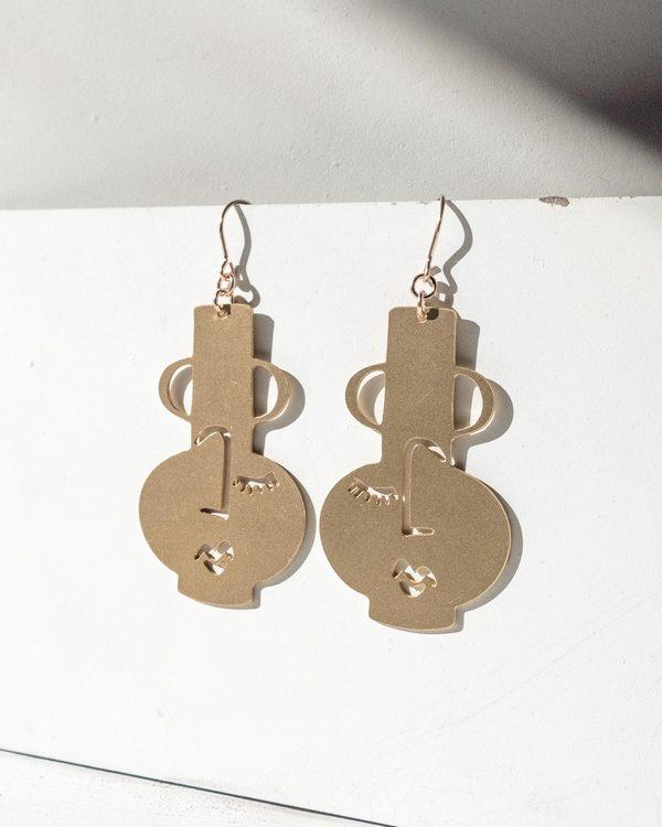 marseille earrings in brass