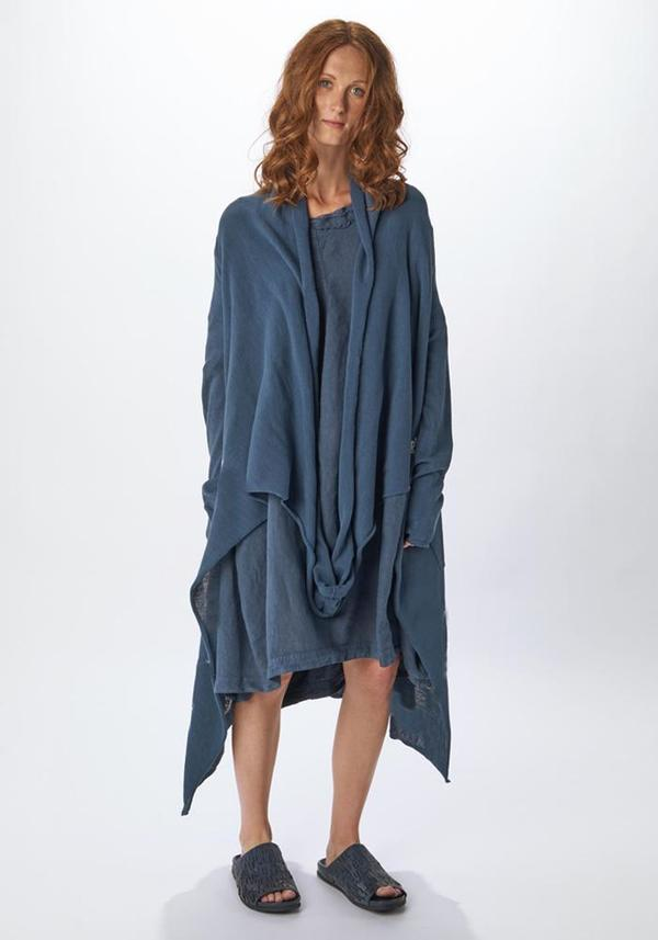 Draped Knitted Sweater Coat