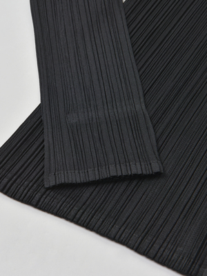 Pleats Please by Issey Miyake Monthly Color Cardigan - BLACK