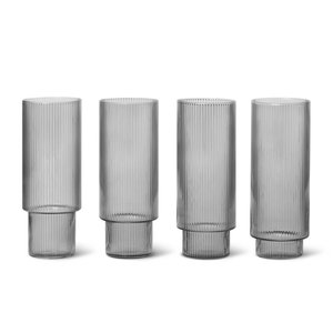 Ferm Ripple Long Drink Glasses Set of Four