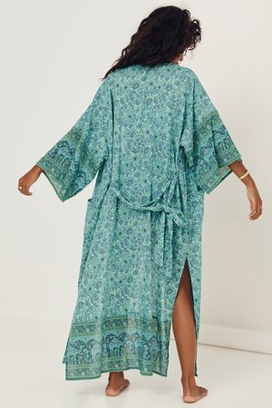 SPELL & THE GYPSY COLLECTIVE Sundown Maxi Robe - Turquoise