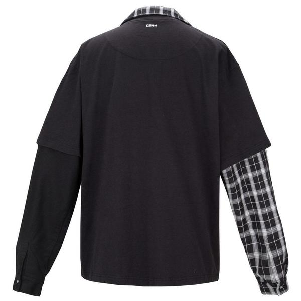 Double Layer Long-Sleeve Shirt 'Fuzzy Black'