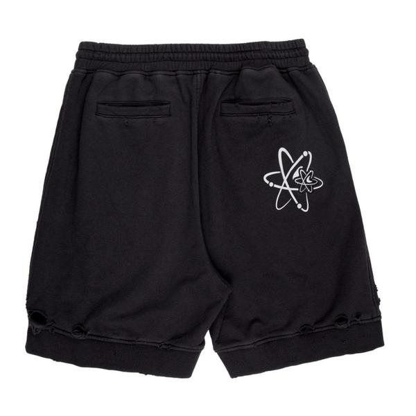Patched Ruin Distressed Sweat shorts 'Faded Black'