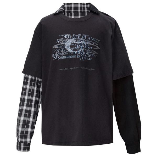 Double Layer Long-Sleeve Shirt 'Fuzzy Black'