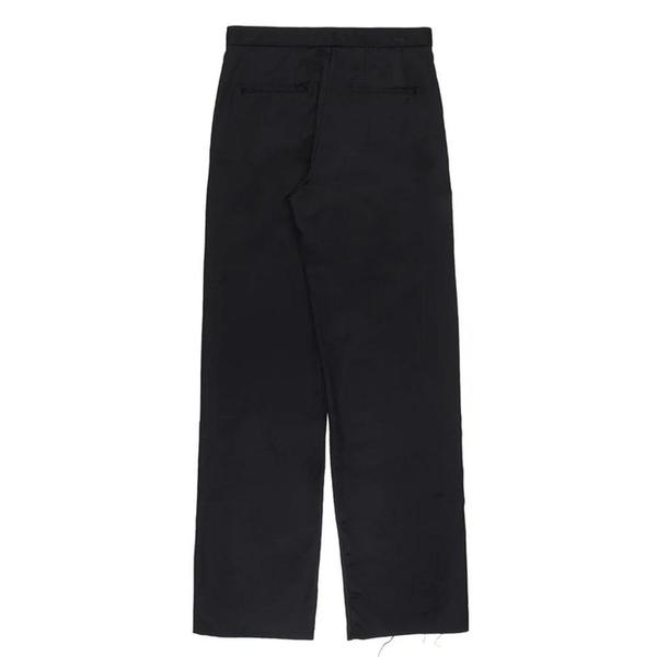 Pleated Turn-Up Tailor Trousers 'Black'