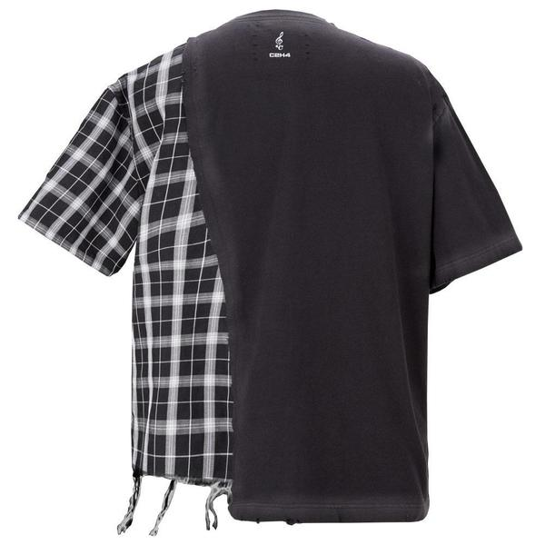 """""""My Own Private Planet"""" Panelled T-shirt 'Fogged Black'"""