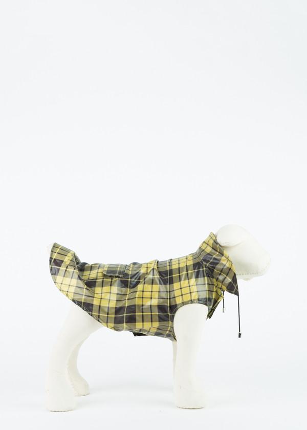 Ware of the Dog Plaid Anorak Dog Raincoat - YELLOW/BLACK