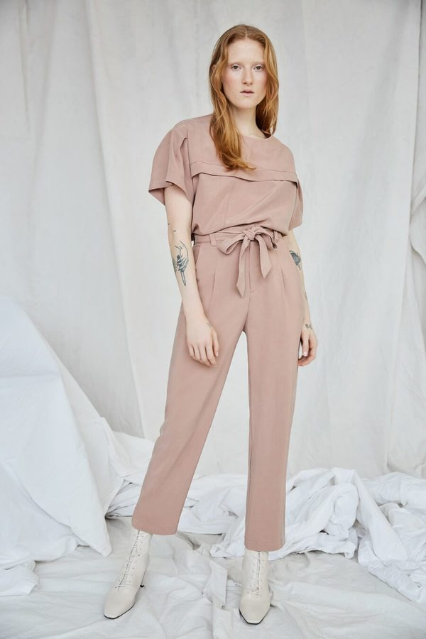 Eve Gravel Pop Up Lion's Echo Pants - Dusty Pink