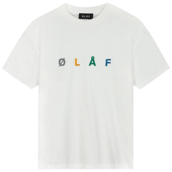 OLAF olaf chainstitch tee - White