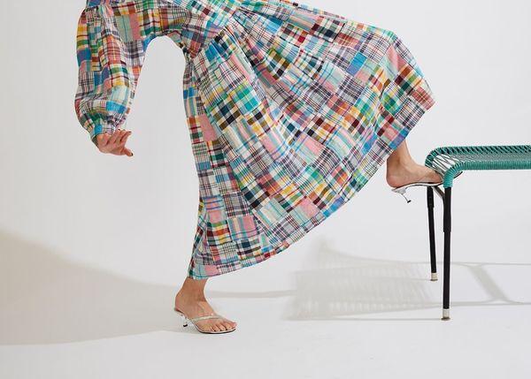 Kurt Lyle Anya Dress - Plaid Patch
