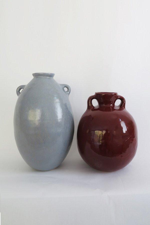 Jade Paton X Karu Large Urn in Burgundy Glaze