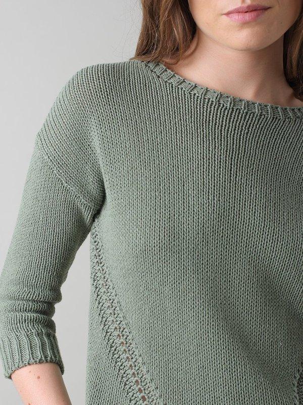Indi & Cold Recycled Cotton Sweater - Khaki