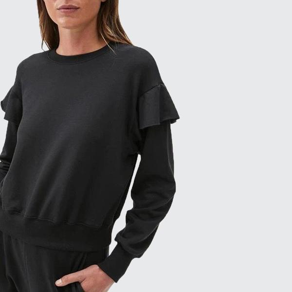 Michael Stars Kacey Ruffle Sleeve Pullover