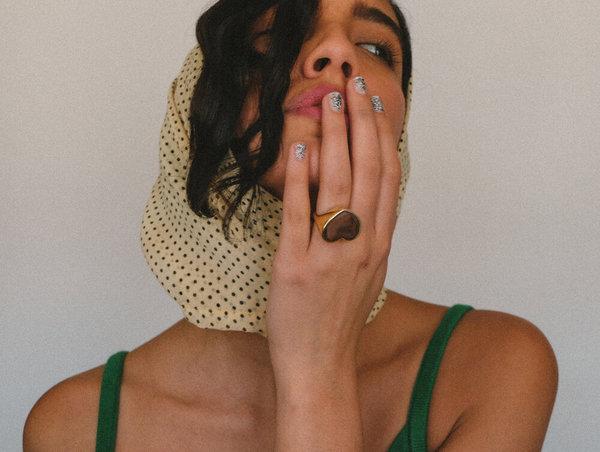 Luiny Heart Ring - Brass