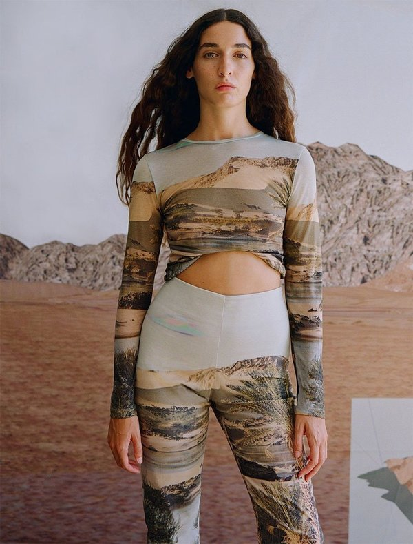 Paloma Wool Horatio Long Sleeve Tee - Desierto