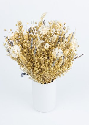 Lavender Flower and Dried Grass Bouquet