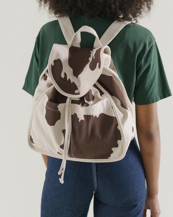 Baggu Drawstring Backpack - Brown Cow