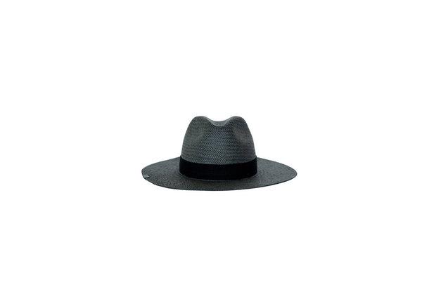 Kin the Label Brigitte Packable Straw Hat - black