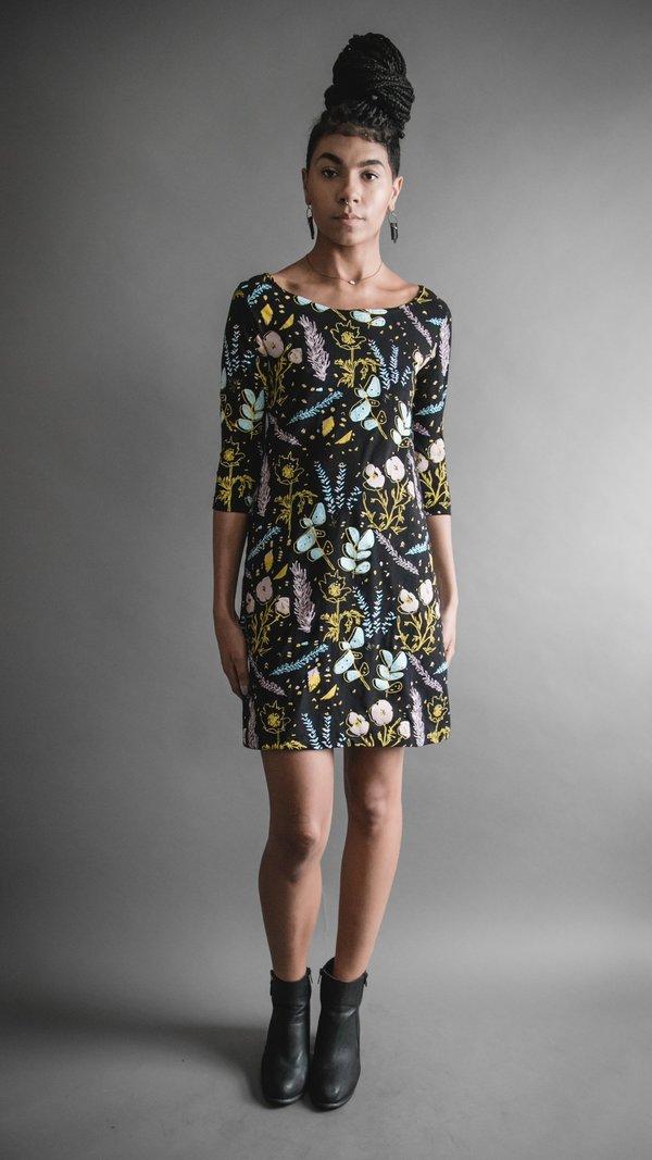 Black Desert Floral Shift Dress