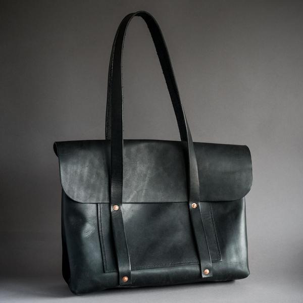 Black Hand Stitched Bag