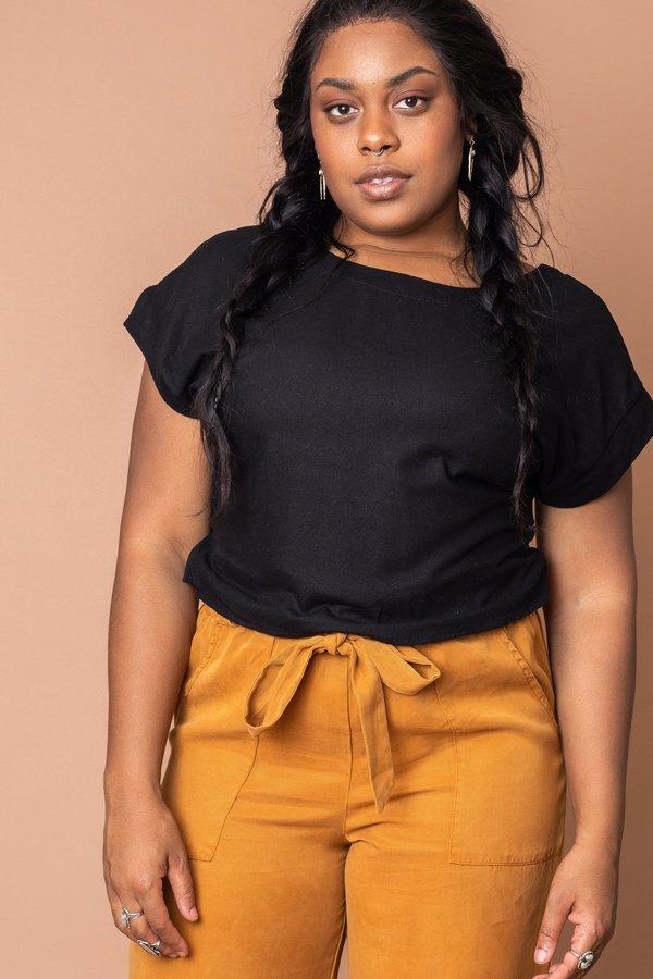 Black Lilah Crop Top