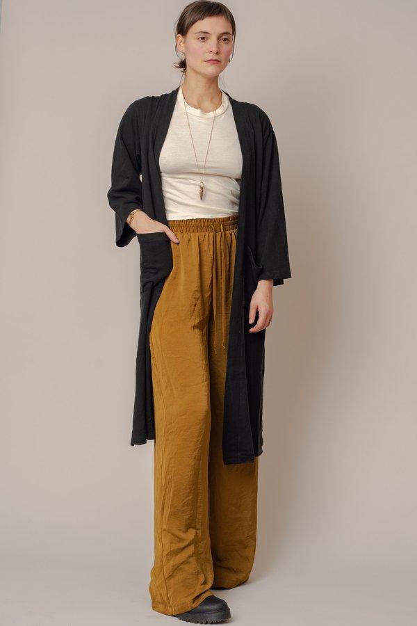 Black Long Sweater Robe