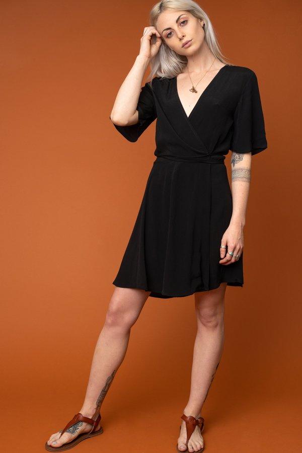 Black Marianne Wrap Dress