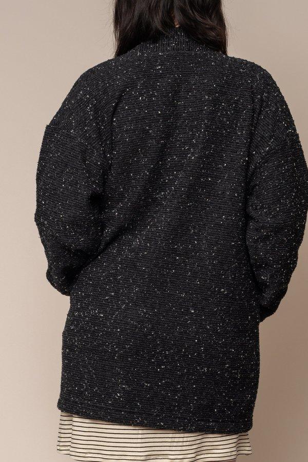 Black Pebble Knit Cardigan