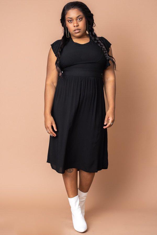 Black Pinafore Dress