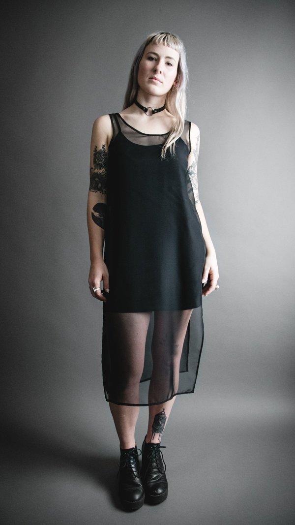 Black Sheer Shade Dress