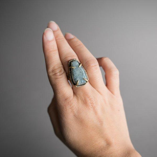Brass and Ocean Jasper 'Calliste' Ring