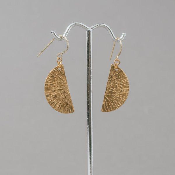 Brass Half Moon Earrings