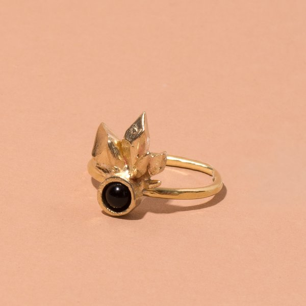 Brass Onyx Thea Ring