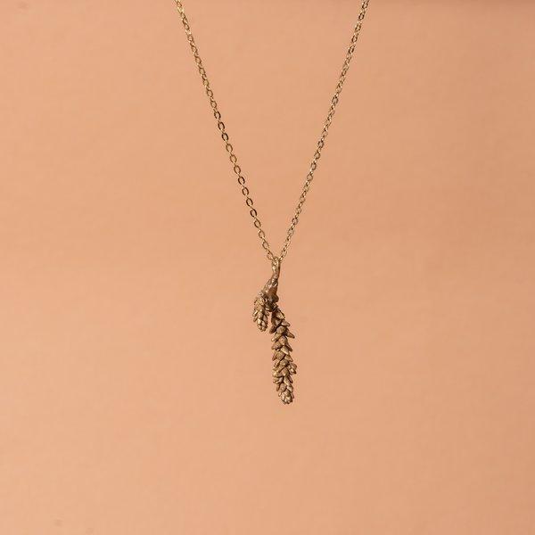 Bronze Crassula Succulent Necklace