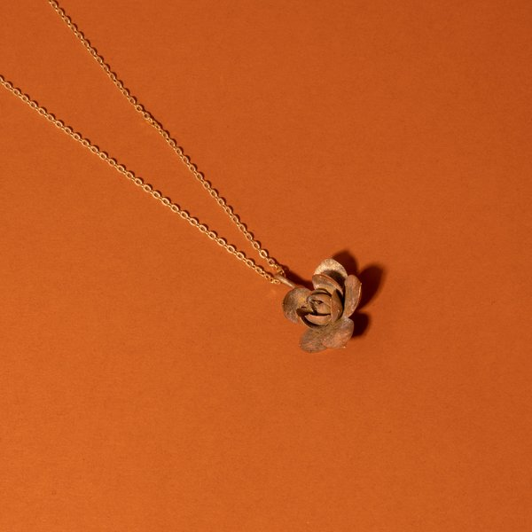 Bronze Echevria Succulent Necklace I