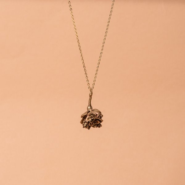 Bronze Rosularia Succulent Necklace