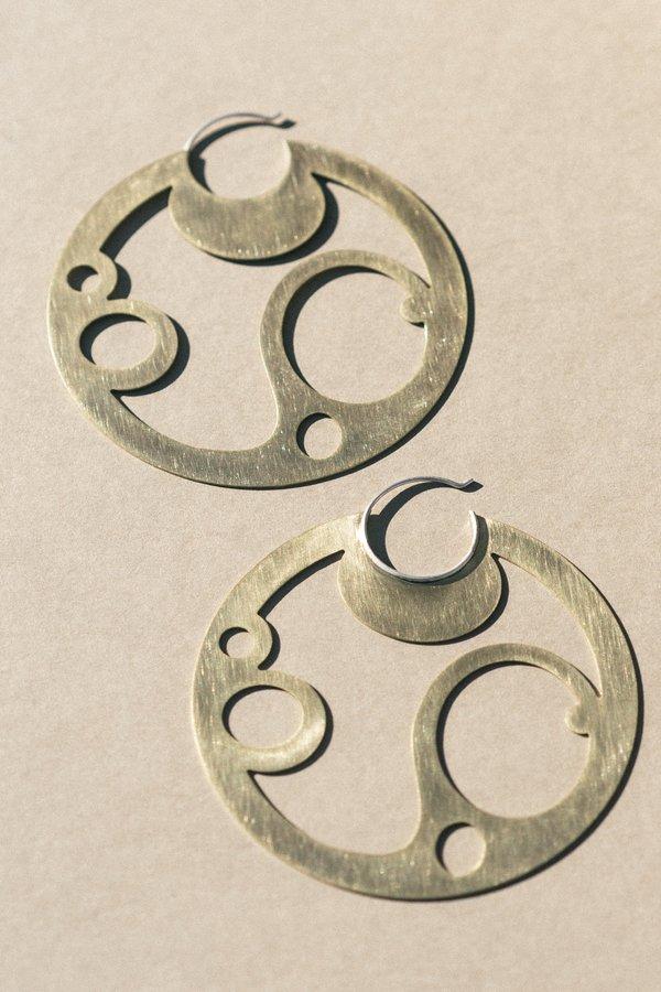 Bubble Disc Hoop Earrings