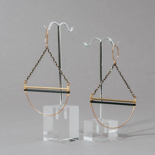 Chain Link Geometric Earrings