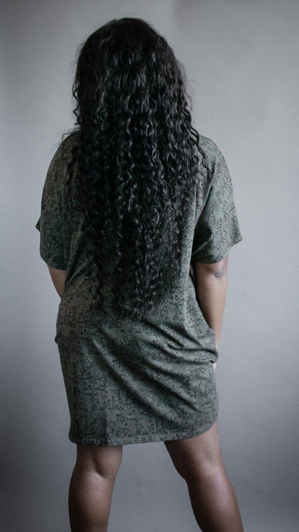 Circle Knit Dress - Green Mojave