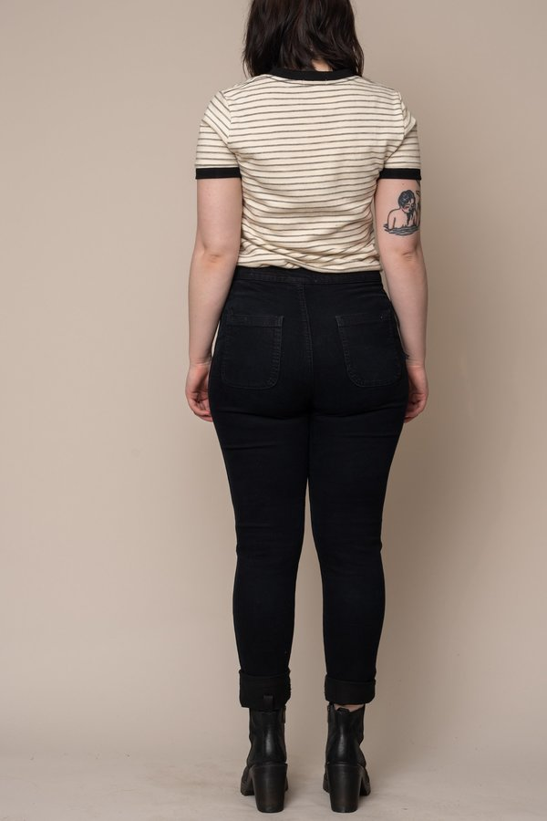 Cream Stripe Nora Tee