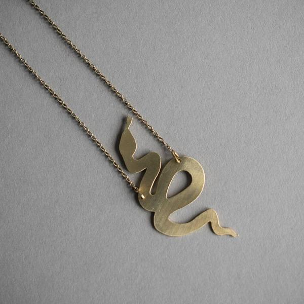 Curled Snake Necklace