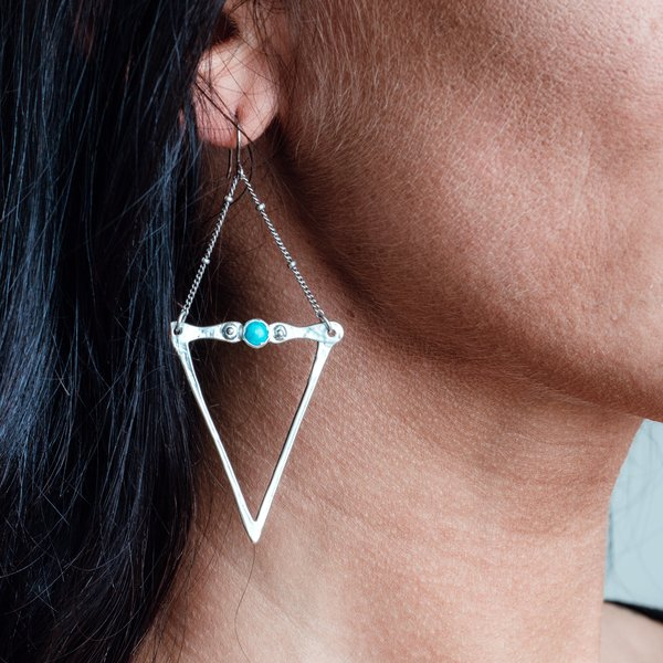 Dart and Turquoise Earrings