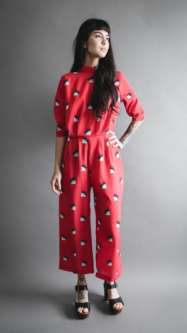 Desiree Jumpsuit- Red Wink